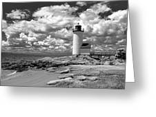Annisquam Lighthouse Infrared Greeting Card
