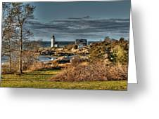 Annisquam Lighthouse Late Autumn Greeting Card