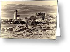 Annisquam Lighthouse Vintage Greeting Card