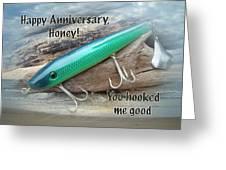Anniversary Greeting Card - Saltwater Lure Greeting Card