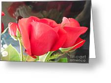 Anniversary Roses With Love 2 Greeting Card