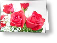 Anniversary Roses With Love 3 Greeting Card