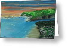 Ann's Beach On Lake Erie Greeting Card