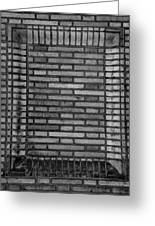 Another Brick In The Wall In Black And White Greeting Card