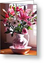 Another Grandma's Pitcher With Flowers Greeting Card
