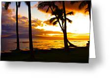 Another Maui Sunset Greeting Card