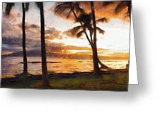 Another Maui Sunset - Pastel Greeting Card