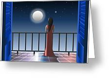 Another Night Alone Greeting Card
