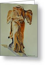 Another Perspective Of The Winged Lady Of Samothrace  Greeting Card