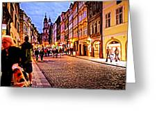 Another Prague Night - Czech Republic Greeting Card