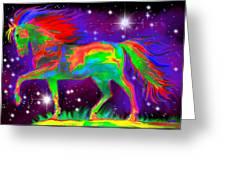 Another Rainbow Stallion Greeting Card