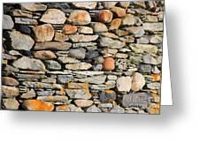 Another Stone In The Wall Greeting Card