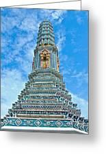 Another Stupa At Grand Palace Of Thailand In Bangkok Greeting Card