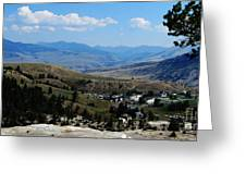 Another View From Mammoth In Yellowstone Greeting Card