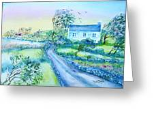 Another Windy Day On Cleare Island Ireland   Greeting Card