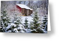 Another Wintry Barn Greeting Card