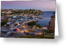 Antalya Harbour Greeting Card