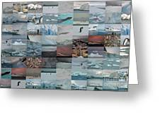 Antarctic Mosaic Greeting Card