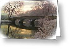 Anteitam Burnside Bridge In Spring Snow Greeting Card