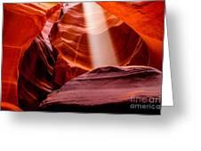 Antelope Canyon Beam Greeting Card