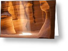 Antelope Canyon Gorgeous Lightbeam Greeting Card