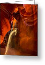 Antelope Canyon - Sand In The Light Greeting Card