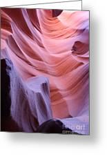 Antelope Canyon Waves Greeting Card