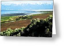 Antelope Island Wasatch Mountains Utah Greeting Card