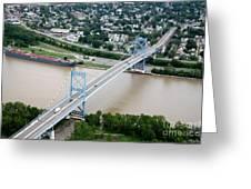 Anthony Wayne Bridge Toledo Ohio Greeting Card