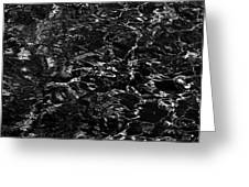 Anthracite Flickering Of The Black Atlas Greeting Card