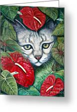 Anthurium Assassins Greeting Card