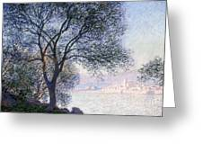 Antibes Seen From The Salis Greeting Card