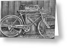 Antiquated Bike Greeting Card