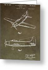 Antique Airplane Patent Greeting Card
