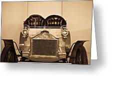 Antique Auto In Sepia Greeting Card