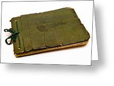 Antique Autograph Book Greeting Card