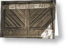 Antique Barn Doors In Sepia Black And White 3003.01 Greeting Card