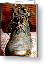 Antique Boots Greeting Card