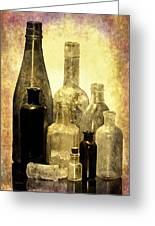 Antique Bottles From The Past Greeting Card