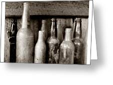 Antique Bottles Greeting Card