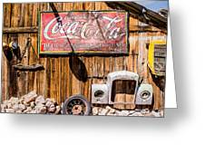 Antique Building At The Techatticup Gold Mine Greeting Card