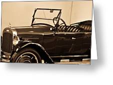Antique Car In Sepia 1 Greeting Card