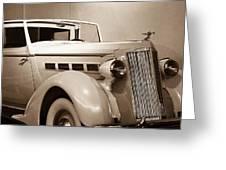 Antique Car In Sepia 2 Greeting Card
