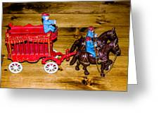 Antique Cast Iron Toy Greeting Card