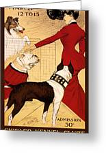 Antique Chicago Dog Show Poster Greeting Card