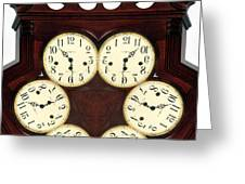 Antique Clock Abstract . Standard Greeting Card by Renee Trenholm