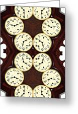 Antique Clock Abstract . Vertical Greeting Card by Renee Trenholm