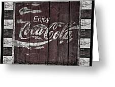 Antique Coca Cola Signs Greeting Card