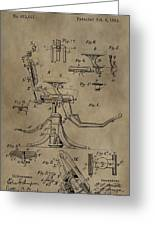 Antique Dental Chair Patent Greeting Card