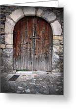 Antique Door Wood Greeting Card